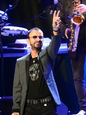 Ringo Starr performs at the Peace Center with his All Starr Band, featuring Todd Rundgren, Toto's Steve Lukather and Gregg Rolie of Santana on Tuesday.