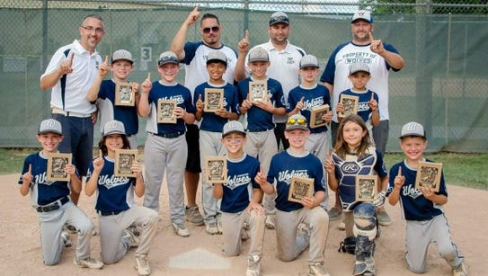 The victorious Webster Wolves 9U team