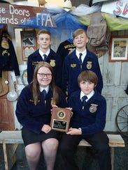 Competing at the State FFA Convention in Madison was