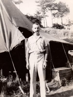 Dr. James Helmsworth in 1944, during World War II in the Pacific theater.