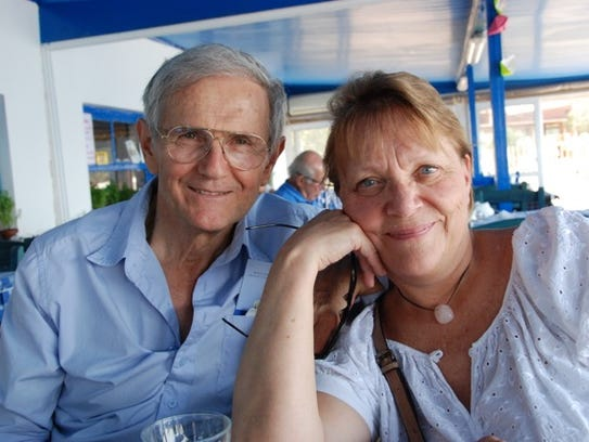 Theo Kyriakidhes and his wife, Linda.