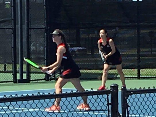 Alexa Alden and Emma Winstead of Wichita Falls High