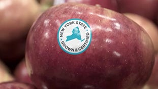 "New York launched a ""Grown and Certified"" program for food products in August 2016 that will include these stickers"