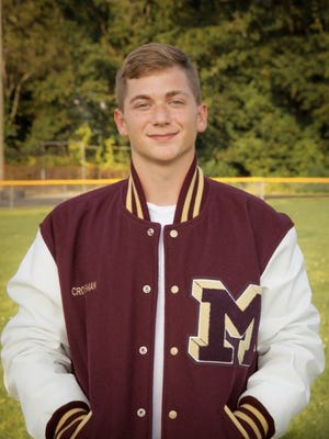 Millbury High 2020 graduate James Crossman -- who was named a captain under varsity football head coach Ray Richards as a junior and senior; and varsity baseball head coach Ron Silvestri for 2020 -- was a beacon for younger players to look upon.