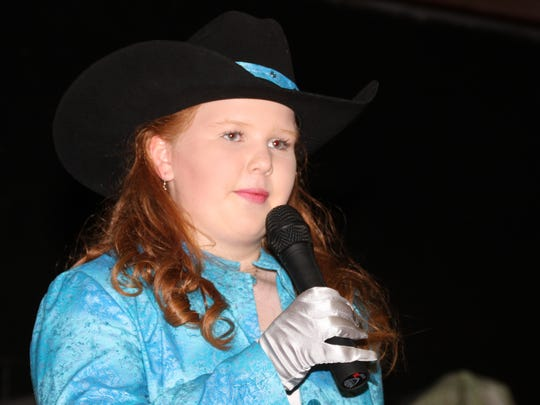 2017 Fair Princess Calleigh Sweetser showed poise and engaged the audience during Thursday's Southwestern New Mexico State fair Royalty Pageant.