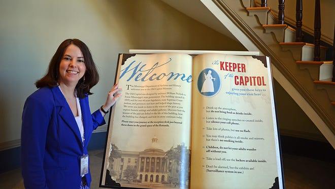 Lauren Miller is director of the Old Capitol Museum, located at 100 S. State St. in Jackson, which was restored after damage from Hurricane Katrina in 2005.