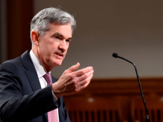 Federal Reserve Chair Jerome Powell speaks in Jackson Hole, Wyoming, at the Challenges for Monetary Policy annual symposium.