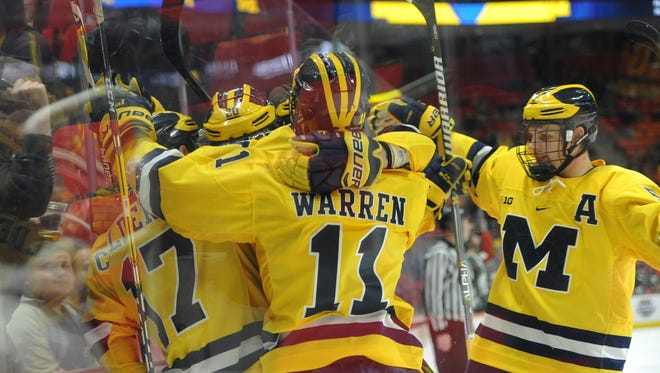 Michigan beat Notre Dame for the first time this season with a 4-2 victory on Friday.