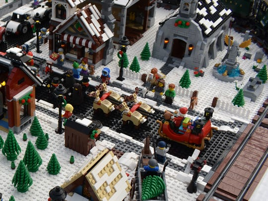 The Rochester LEGO Users Group has created a winter village that can be viewed inside The Strong on Dec. 2 and 3.