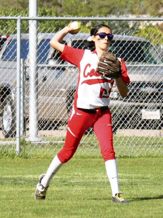 Danny Udero/Sun-News   Cobre's Isis Rosales was named to the All-South roster and All-District squad in District 3-4A