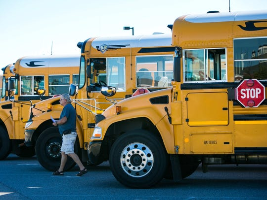 Bus driver Keith Shoemaker is a contract bus driver