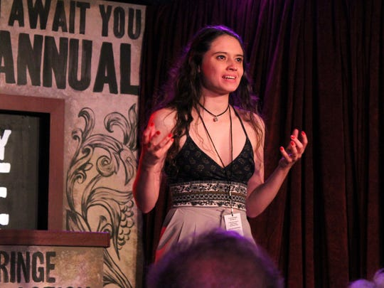 Brandi Botkin performed a chilling excerpt from Caroline