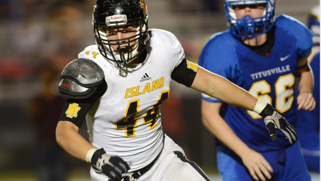 Peter DeMorat of Merritt Island is one of the leading tacklers on the team.