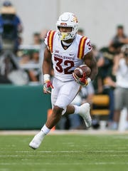 Iowa State running back David Montgomery is a first-team all-Big 12 selection. Stopping him will be a high priority for Memphis.