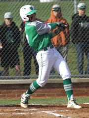 Clear Fork's Hunter Auck swings at the ball while playing a home game against Ontario on Wednesday.