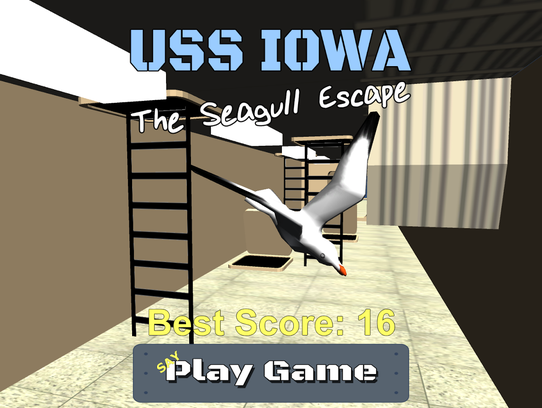Sammy the Seagull is stuck in the bowels of the USS