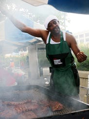 JD of JD's BBQ Grill at the Black Family Reunion in