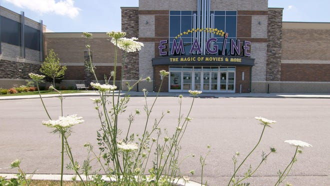 The Hartland Emagine movie theater, shown Monday, June 29, 2020, lies dormant awaiting the go-ahead from the state to re-open.Emagine Theater Covid Closed 02