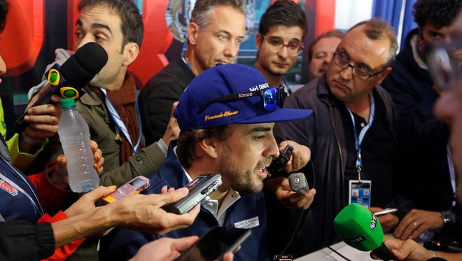 Fernando Alonso is the center of attention on  Indianapolis 500 media day.