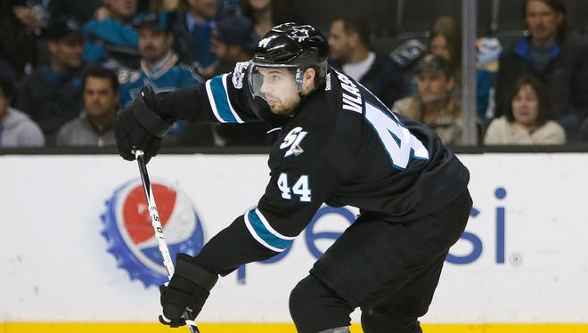 Defenseman Marc-Edouard Vlasic. Re-signed with Sharks for eight years, $56 million. Would've become a UFA next offseason.