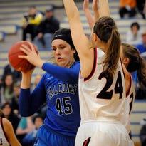 Foley's Tara Dusharm takes a shot during a game at Foley High School.