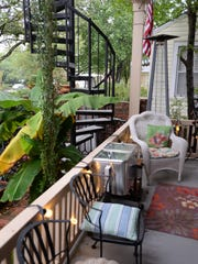 Guests can relax on the front porch of the Fairfield Place Bed and Breakfast.