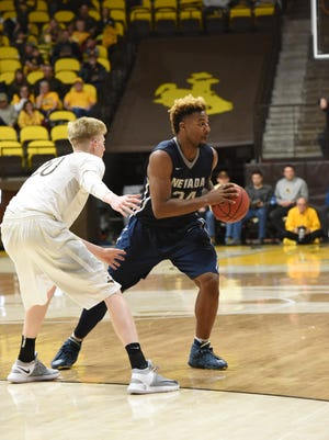 Jordan Caroline, pictured, and Cameron Oliver had dominant rebounding efforts in a win over Wyoming.
