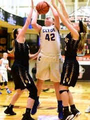 Clyde's Jackie Smith gained valuable experience at the regional tournament.