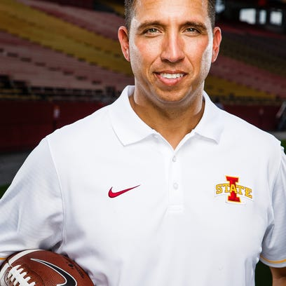 The Cyclones Head Coach Matt Campbell poses for a portrait