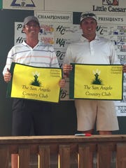 Colton Willliams (left) and John Duke Hudson celebrate