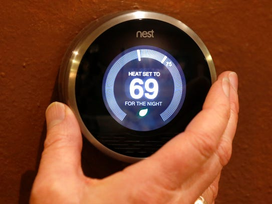 A Nest thermostat. Nest is one of the leaders in the