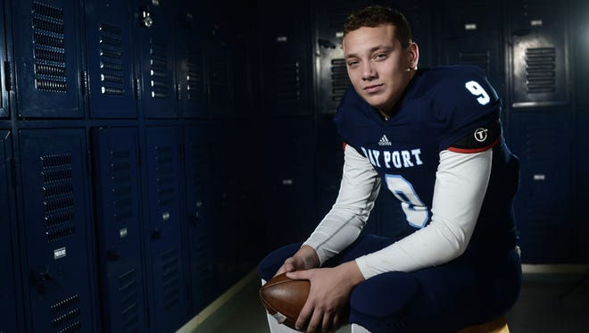 Bay Port's Alec Ingold, who was the Press-Gazette Media football player of the year, signed his national letter of intent to play football at Wisconsin on Wednesday