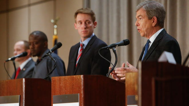 Roy Blunt speaks during the Missouri Press Association Candidate Forum on Sept. 30, 2016 at the Chateau on the Lake Resort in Branson.