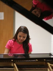 Justine Ker plays Chopin's Fantaisie-Impromptu at the University of Louisiana at Monroe on Monday, August 22, 2016. Ker has been playing this piece of music since she was 13. She played it as her talent in Miss Louisiana in June and will play it at Miss America in September.