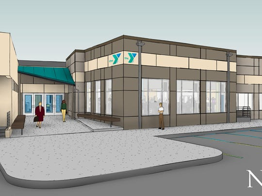 The YMCA has started on a $2.5M renovation project that will add 2,400 square feet to the wellness center, among other improvements. This rendering depicts what the addition will look like when completed later this year.