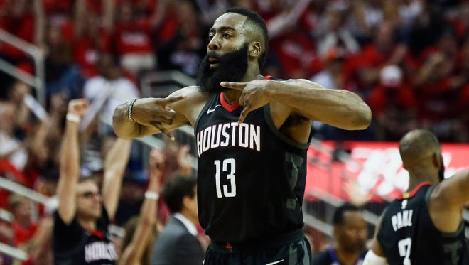 James Harden poured in a game-high 41 points for the Rockets.