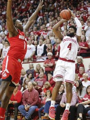 Hoosiers guard Robert Johnson will finish his career