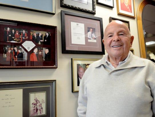 Gerry Frank in his office in Salem in 2014.