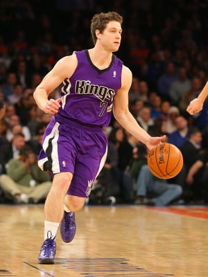 Jimmer Fredette didn't get on the court much for the Kings.