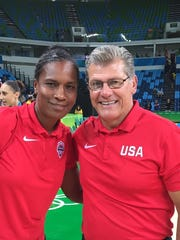 UC head coach Jamelle Elliott and UConn head coach Geno Auriemma helped the USA women's basketball team to its 6th-straight gold medal at the 2016 Olympics in Rio.