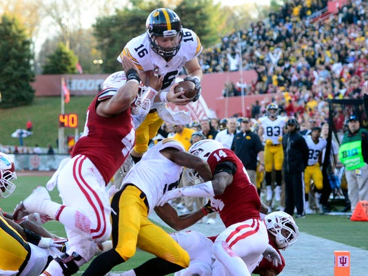 NCAA Football: Iowa at Indiana