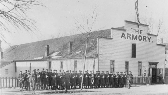 This is the original Armory where the 1906 muskrat dinner was held.