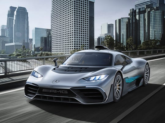 This photo provided by Daimler shows the Mercedes-AMG