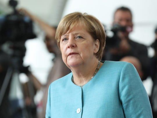 German Chancellor Angela Merkel in Berlin on June 29,