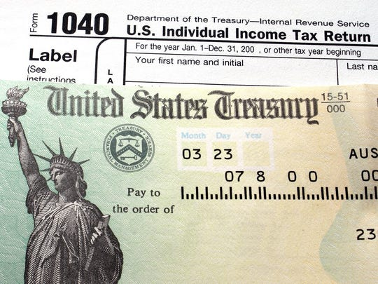 Some taxpayers are seeing tax refunds that are nearly 10 percent higher than a year ago, particularly if they benefited from some improved tax credits for working families, according to Florida-based Tax Max.
