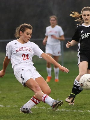 Megan Hagerty plays for Homestead, the area's 10th-ranked girls soccer team.