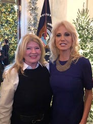Naples resident Diane Olivo, left, with Kellyanne Conway at the White House.