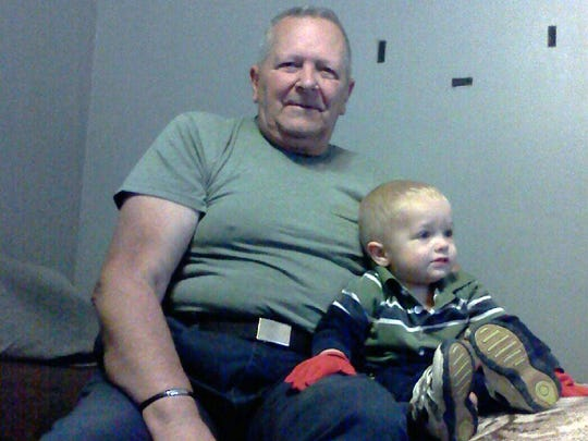 Clifford Van Haywald, 76, is shown with his 3-year-old
