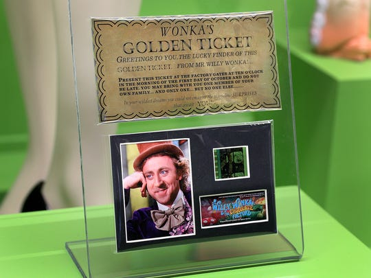 "Filmmakers made this golden ticket for 1971 movie ""Willy Wonka & the Chocolate Factory."""