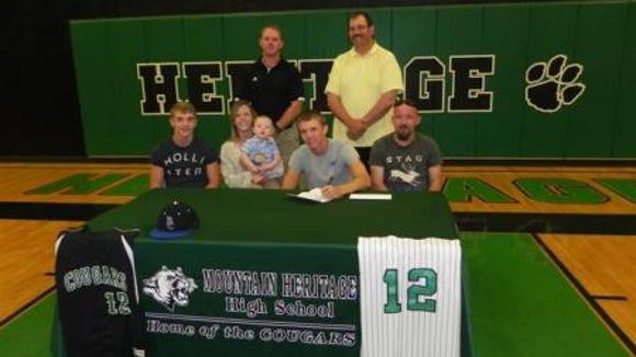 Mountain Heritage senior Daulton Buchanan has signed to play college baseball for Berea (Ky.).